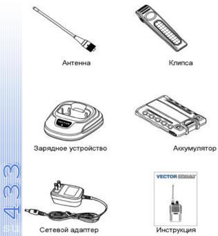 Комплект поставки Вектор VT-47 M2